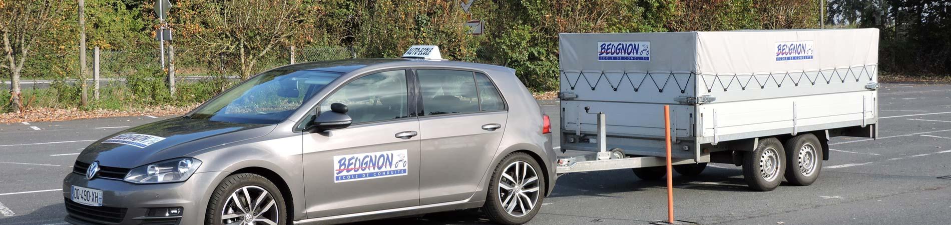 Formation Permis remorque Nantes, Angers, Le Mans, Poitiers, Niort, Saumur